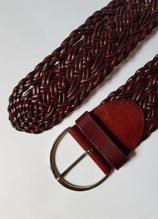 Красивый плетеный ремень,широкий поясной ремень,плетеный кожаный ремень,пояс