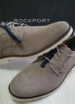Новые мужские туфли  rockport замшевые