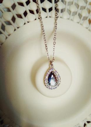Нарядный кулончик с кристаллами аврора бореалис