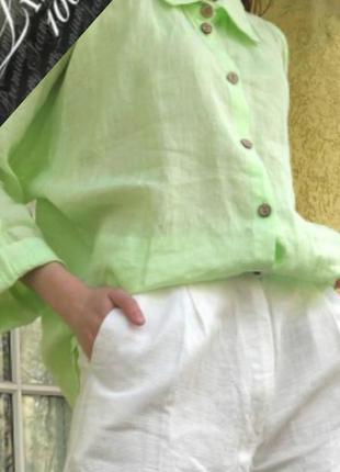 Льняная освежающая рубашка блуза в стиле annete gortz