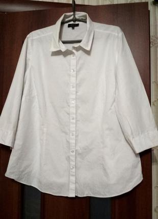 Белая блуза блузка рубашка 20 (наш 58-60) рр
