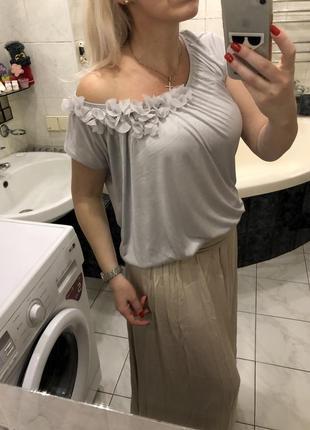 Блузка , цветочки , h&m rayon , оригинал