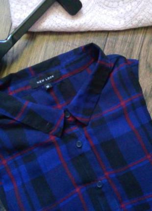 Сорочка / блуза / рубашка new look у клітинку кльового кольору