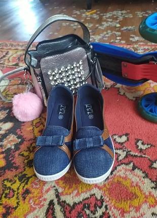 Туфли джинс