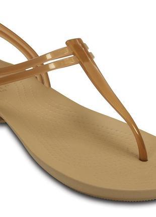 Crocs босоножки сандалии womens isabella t-strap sandal оригинал