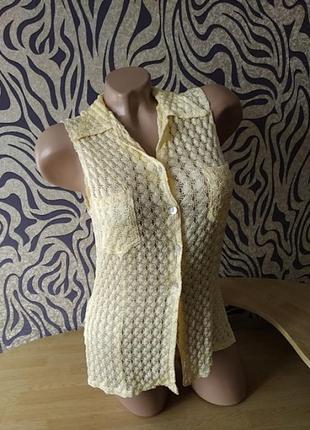 Вязаная майка блуза