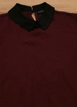 Блуза марсалового цвета