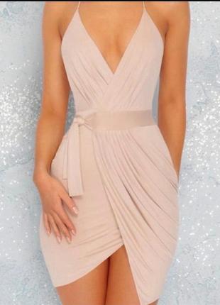 Платье с открытой спинкой oh polly