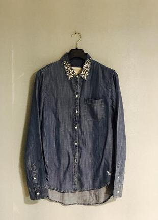 Рубашка джинсовая abercrombie & fitch, р.l, новая.