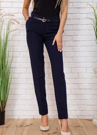 Женские классические брюки штаны с карманами синие