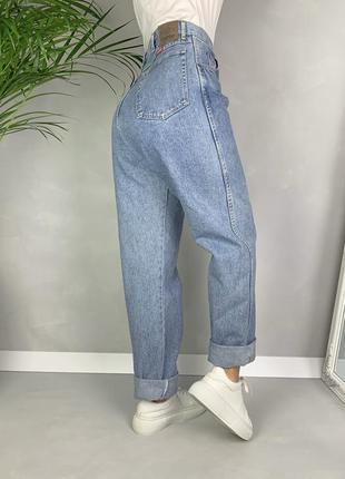 Винтажные мом джинсы баталы size+ высокая посадка момы wrangler