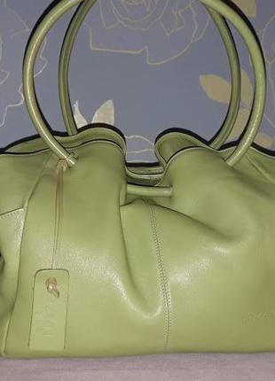 Кожаный дизайнерский саквояжик lossa , италия