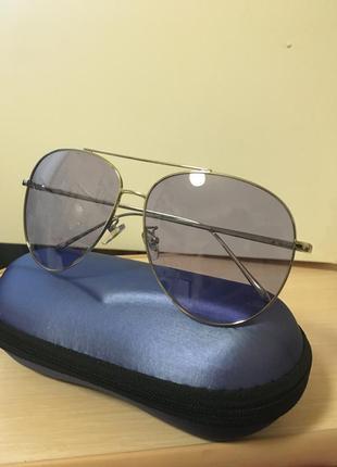 Акция 💗очки солнцезащитные серебристая оправа
