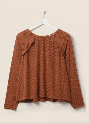 Натуральная оверсайз рубашка, блуза принт fatface