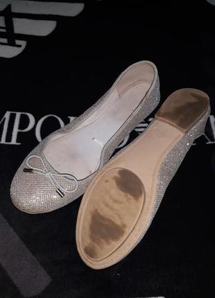 Нарядные туфли туфельки балетки чешки свадебные свадьба фирма next