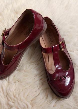 Стильные туфли/лоферы/лаковые/topshop