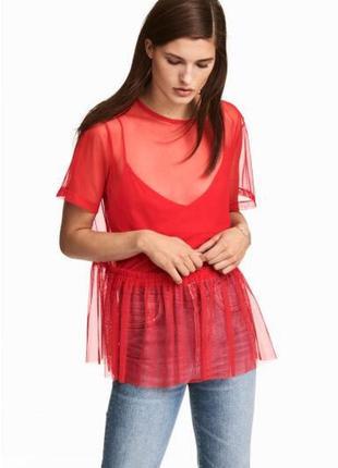 Блуза ( сетка ) h&m
