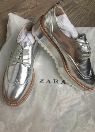 Лоферы туфли zara