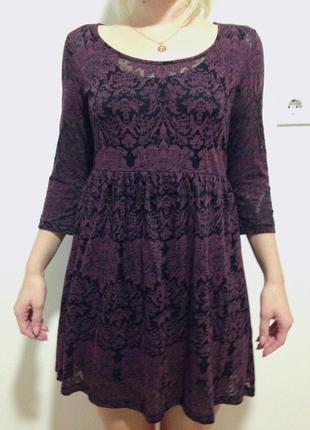 Бордовое платье forever 21