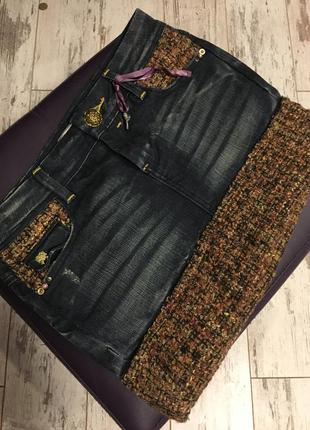 Очень крутая джинсовая юбка