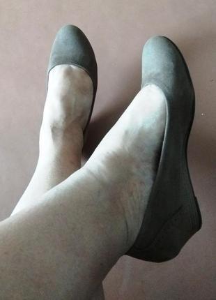 Женские замшевые туфли канадского бренда blue motion р.40