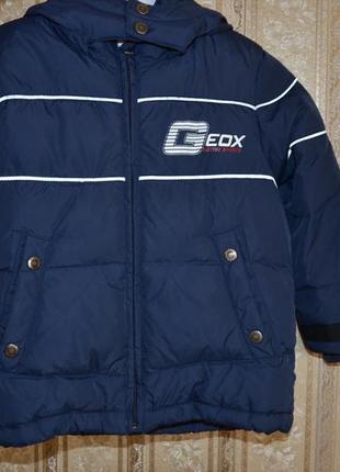 Курточка пуховик geox respira 4 года демисезон или тёплая зима