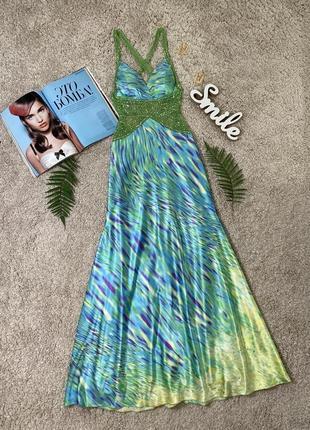 Невероятное нарядное вечернее платье с открытой спиной №311max