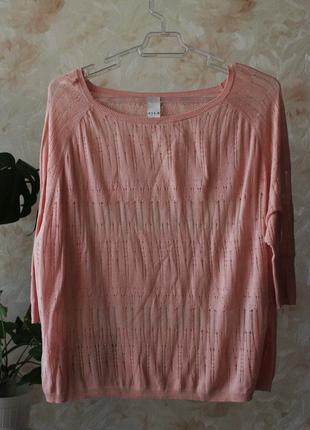 Рваный джемпер от vila clothes розового цвета