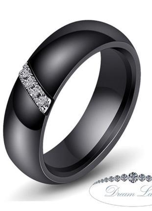 Колечко из черной керамики «верность» (в нал. 16.5 17.3 18.2 19.0)