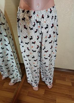 Байковые пижамные брюки фланель хлопок