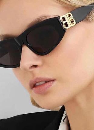 Модные солнцезащитные очки черные ретро очки 7017