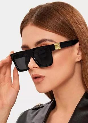 Модные солнцезащитные очки черные ретро очки 7018