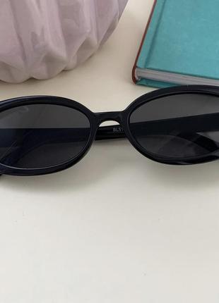 Черные винтажные очки 😎 солнечные очки овальные