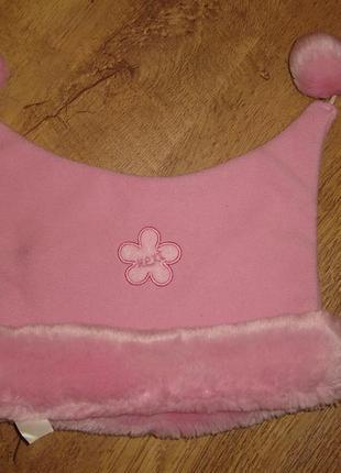 Флисовая шапочка некст 9-18 мес внутри трикотажная подкладка