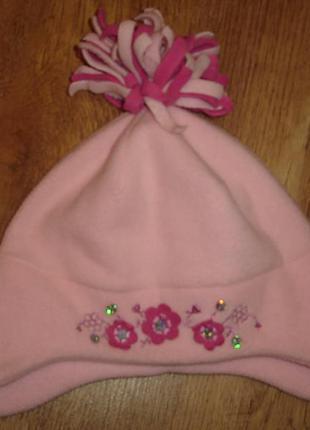 Флисовая шапочка шапка  на 1-3 года