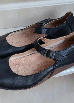 Кожаные туфли clarks, по бирке 6.5 d..
