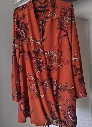 Блуза терракотовая boohoo,  124 фото