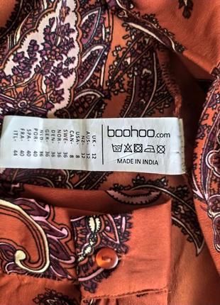 Блуза терракотовая boohoo,  126 фото