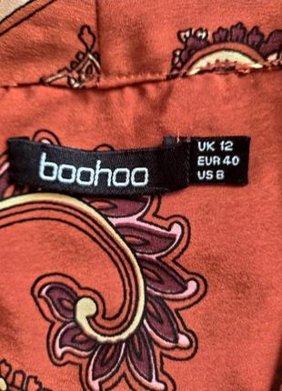 Блуза терракотовая boohoo,  125 фото