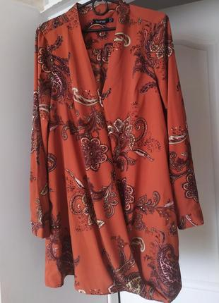 Блуза терракотовая boohoo,  128 фото
