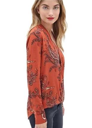 Блуза терракотовая boohoo,  1210 фото