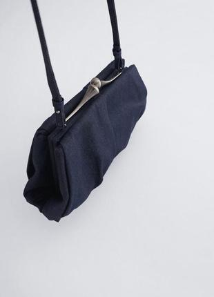 Стильна сумка великий клатч zara джинсова денім хіт!