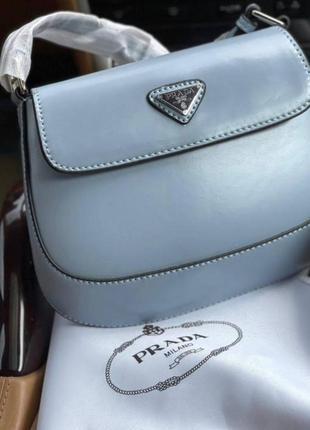 Брендовая голубая сумка конверт