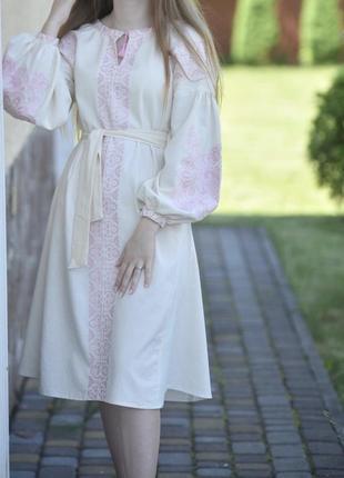 Вышиванка вышитое украинское платье миди вишиванка вишита українська сукня міді