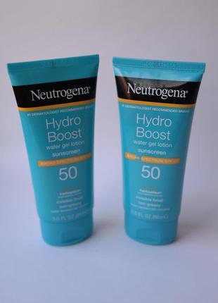 Гель - лосьон крем солнцезащитный neutrogena hydro boost water gel lotion spf 50