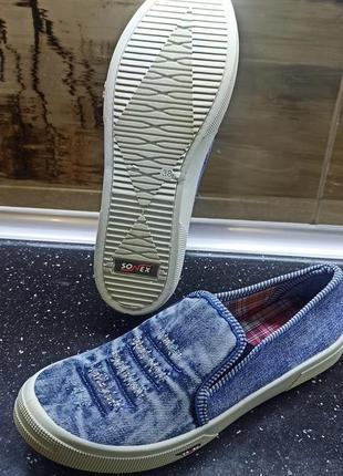Мокасины женские джинс
