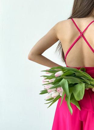 Шёлковое платье с открытой спинкой💓