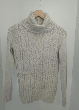 Вязанный гольф / свитер косичкой parkhande