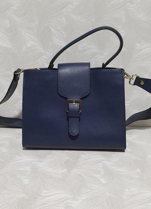 Красивая кожаная сумка кросс боди vera pelle