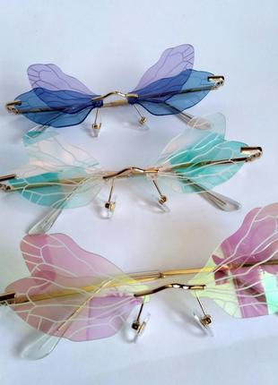 Очки бабочка с градиентовым перламутровым цветом